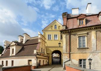 Obraz Lublin, Stare miasto z domami w stylu renesansu lubelskiego - fototapety do salonu