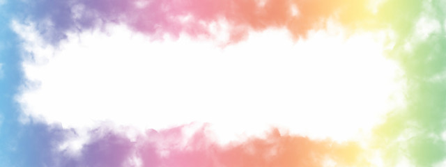 Rainbow Cloud Frame Background