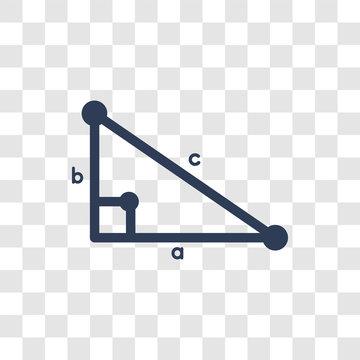 Trigonometry icon vector