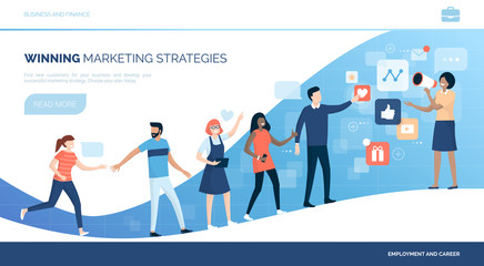 Winning customers with marketing strategies