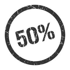 50% stamp