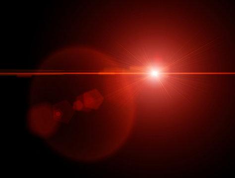 Luci e stelle nella notte, astri nel cielo. Effetto rifrazione lente. Osservare corpi celesti, nuovi sistemi solari