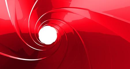 gun barrel inside 3d rendering