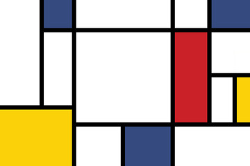 colorful rectangles; mondrian style;