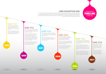 Colorful Droplets Timeline Infographic Layout