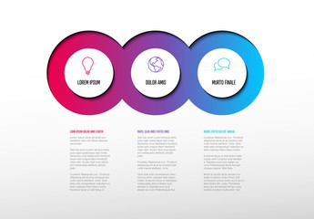 Colorful Circles Infographic Layout