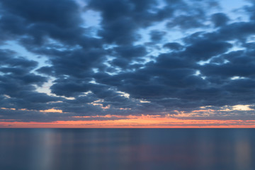 Wall Mural - Long exposure of the Gulf of Mexico just after sunset from the Naples Pier in Florida