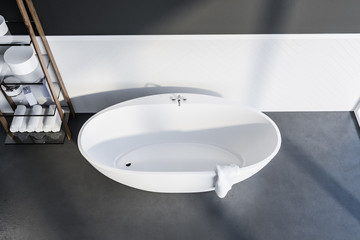 Top view of bathtub