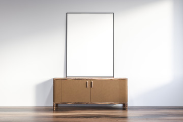 Living room cabinet and poster