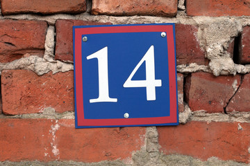 number on the wall
