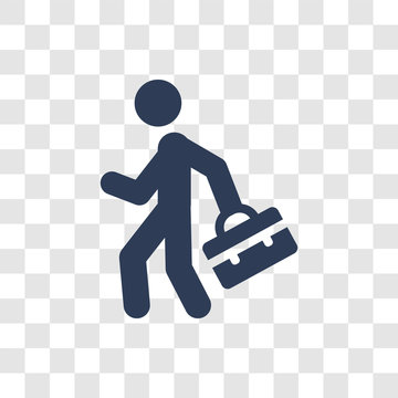 Going to work icon vector