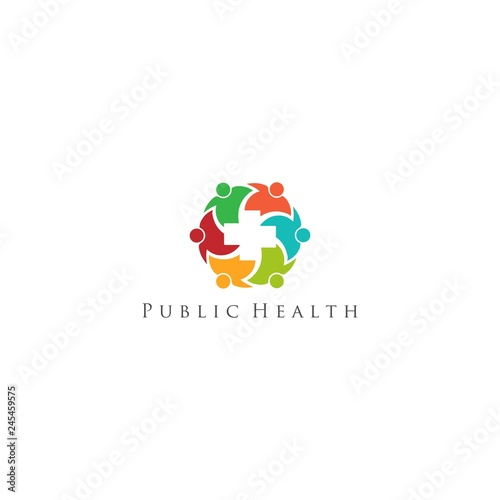 Public Health Logo Design Vector Stock Image And Royalty Free