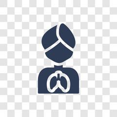 Respiration icon vector