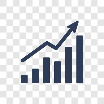 Increasing stocks icon vector