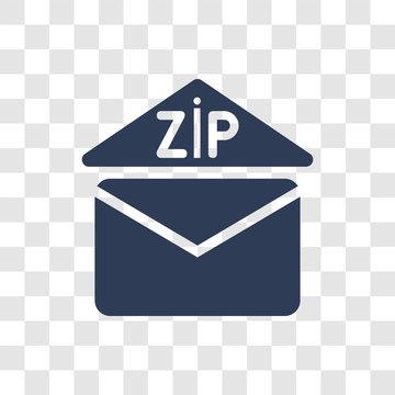 Zip code icon vector
