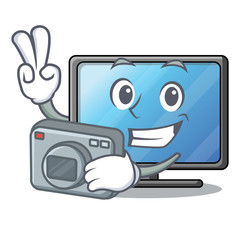 Photographer lcd tv in shape of mascot
