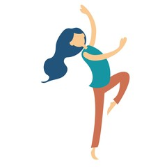 dancing woman  flat design, dancer pose, Dancing styles flat icons