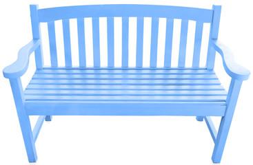 banc exotique de jardin en bois bleu