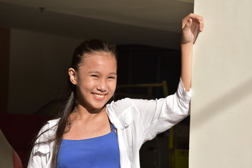 Happy Youthful Asian Girl