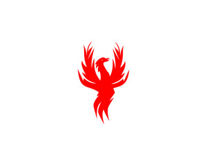Phoenix logo design template