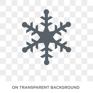 Snowflake icon. Snowflake design concept from  collection. Simple element vector illustration on transparent background.