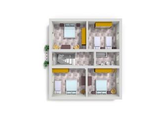 Color floor plan for marketing