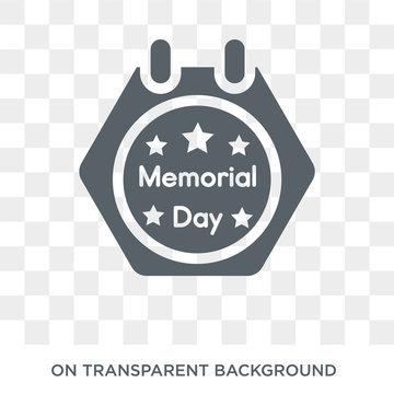 Memorial Day icon. Trendy flat vector Memorial Day icon on transparent background from United States of America collection. High quality filled Memorial Day symbol use for web and mobile