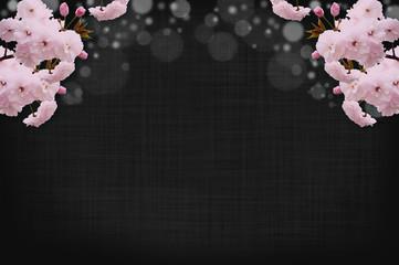 春の花の背景_八重桜