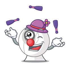 Juggling cartoon webcam in funny that shape