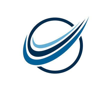 circle swoosh logo