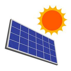 太陽とソーラーパネル