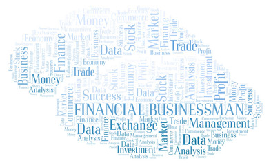 Financial Businessman word cloud.