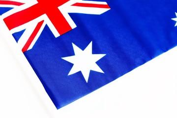 Australian National Flag On White Background