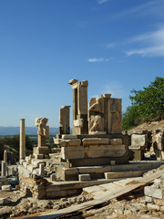 The ruins of the ancient city of Ephesus, Izmir Province, Turkey.