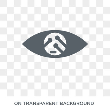 Smart lens icon. Trendy flat vector Smart lens icon on transparent background from Artificial Intelligence, Future Technology collection. High quality filled Smart lens symbol use for web and mobile