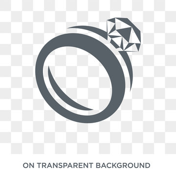 Diamond ring icon. Trendy flat vector Diamond ring icon on transparent background from Luxury collection. High quality filled Diamond ring symbol use for web and mobile