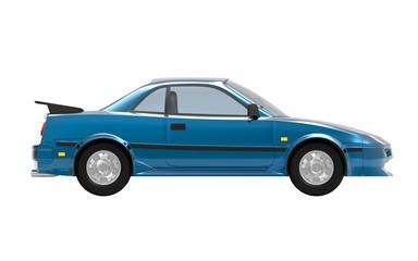 Papiers peints Vintage voitures car 1980 cyberpunk blue side