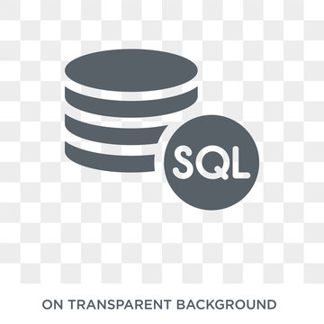 Sql icon. Trendy flat vector Sql icon on transparent background from Internet Security and Networking collection. High quality filled Sql symbol use for web and mobile