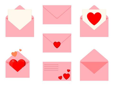 Colorful cartoon letter set
