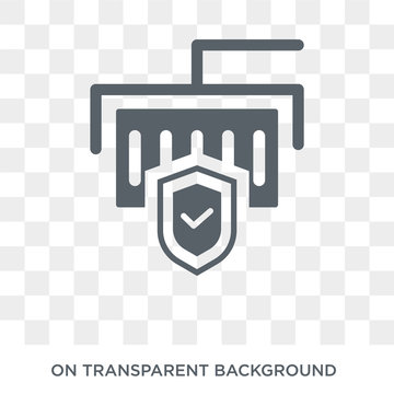 Delivery insurance icon. Trendy flat vector Delivery insurance icon on transparent background from Insurance collection. High quality filled Delivery insurance symbol use for web and mobile