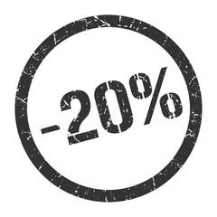 -20% stamp
