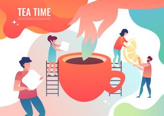 Tiny men make tea.