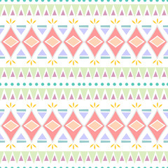 Trendy ethnic tribal seamless pattern vector illustration with geometric hand drawn stripes ikat motif batik background multicolor for fashion textile print and wrapping.
