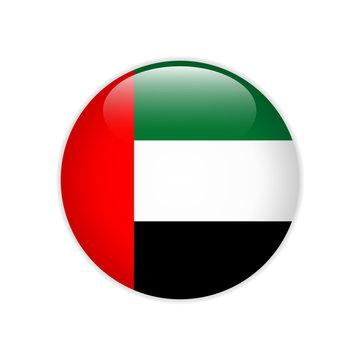 United Arab Emirates flag on button
