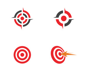 Obraz Target icon vector illustration - fototapety do salonu