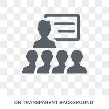 on coaching icon. Trendy flat vector on coaching icon on transparent background from General collection. High quality filled on coaching symbol use for web and mobile