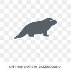 Desman icon. Trendy flat vector Desman icon on transparent background from animals  collection. High quality filled Desman symbol use for web and mobile