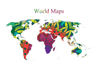 Hand Draw for World Maps