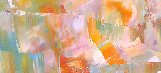 Hand drawn colorful abstract painting background. Oil paint texture.  High detail. Can be used for web design, art print, etc.