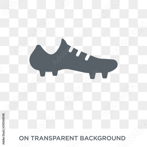 570d1aef84 Soccer shoe icon. Soccer shoe design concept from Clothes collection.  Simple element vector illustration on transparent background.